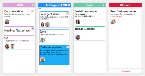TMS VCL UI PAck Kanban Board