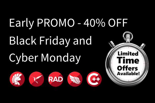 Embarcadero Early Black Friday Cyber Monday promo 40% OFF for all solutions