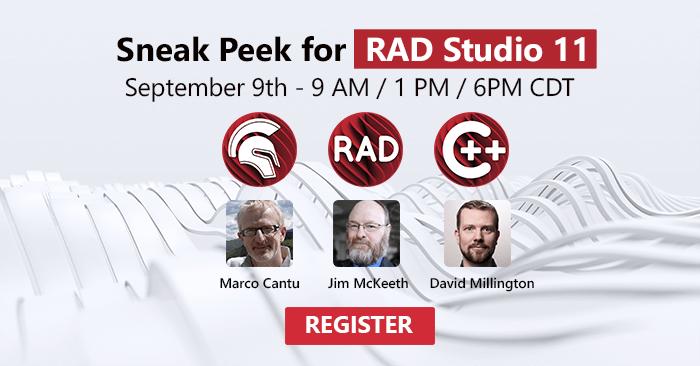 Sneak Peak for RAD Studio 11